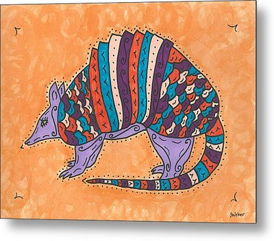 Psychedelic Armadillo Metal Print by Susie Weber