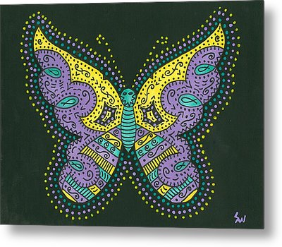 Psychedelic Butterfly Metal Print by Susie Weber