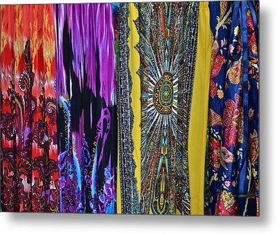 Psychedelic Dresses Metal Print by Frozen in Time Fine Art Photography