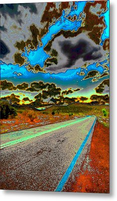 Psychedelic Highway Metal Print by David Patterson