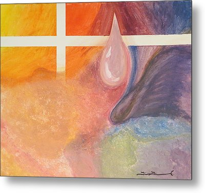 Psychedelic Tear Metal Print by Tim Townsend
