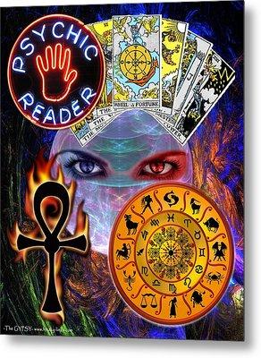 Psychic Reader Metal Print