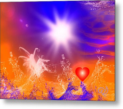 Metal Print featuring the digital art Psychic by Ute Posegga-Rudel