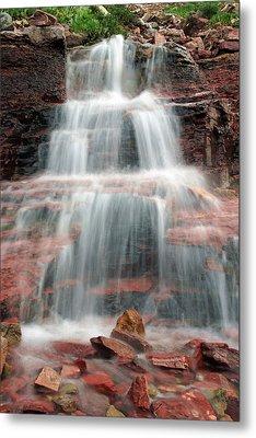 Ptarmigan Trail Waterfall No.4 Metal Print