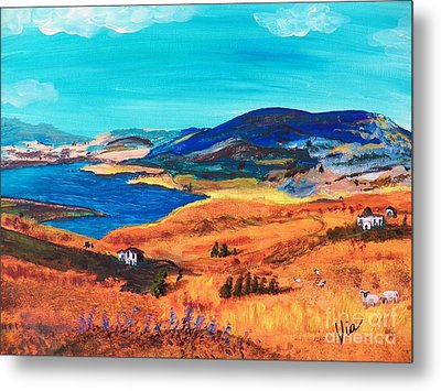 Ptg   Italian Countryside Metal Print by Judy Via-Wolff