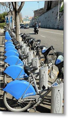Public Bike Hire Scheme Metal Print by Chris Hellier