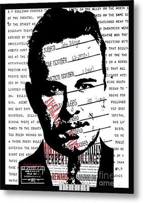 Public Enemy Number 1 Metal Print by Brittany Perez