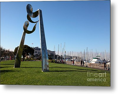 Public Sculpture At The San Francisco Pier 39 5d26149 Metal Print by Wingsdomain Art and Photography
