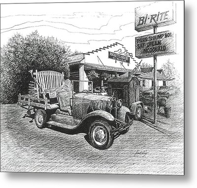 Puckett's Grocery And Restuarant Metal Print by Janet King