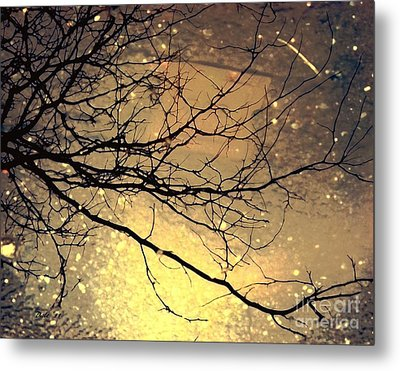 Puddle Art 3 Metal Print by Dale   Ford