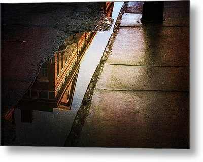 Puddles Of The Past Metal Print by Heather Green