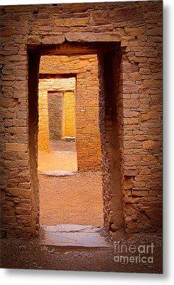 Pueblo Doorways Metal Print by Inge Johnsson