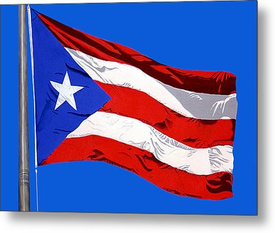 Puerto Rican Flag Metal Print