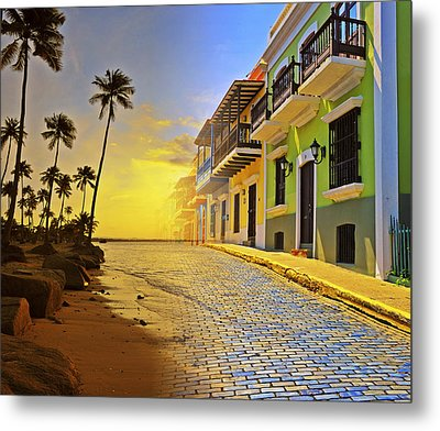 Puerto Rico Collage 2 Metal Print