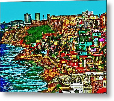 Old San Juan Puerto Rico Walled City Metal Print