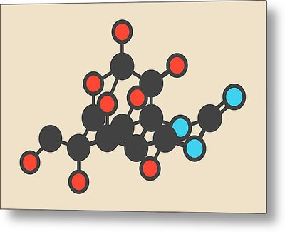 Pufferfish Neurotoxin Molecule Metal Print by Molekuul