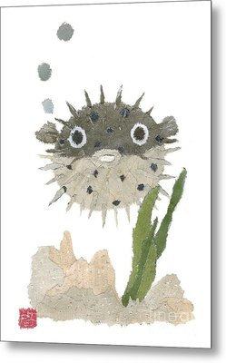 Blowfish Art Metal Print by Keiko Suzuki