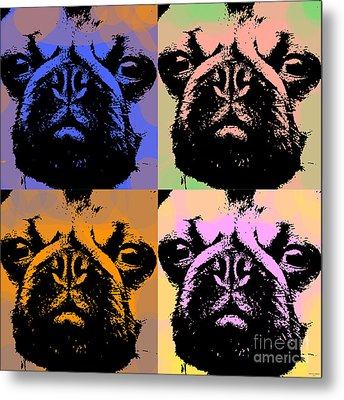 Pug Pop Art Metal Print by Jean luc Comperat