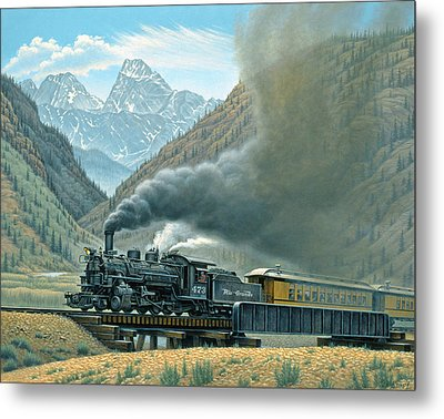 Pulling For Silverton Metal Print