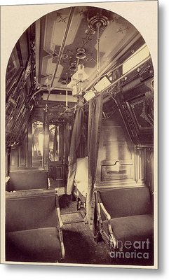 Pullman Palace Sleeping Car 1870 Metal Print by Getty Research Institute