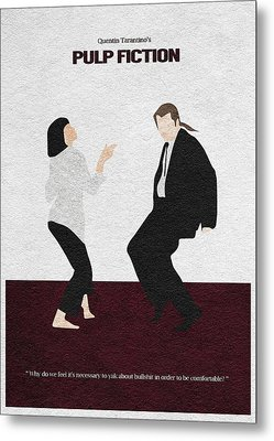 Pulp Fiction 2 Metal Print by Ayse Deniz