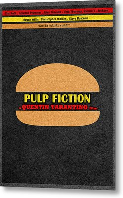 Pulp Fiction Metal Print by Ayse Deniz