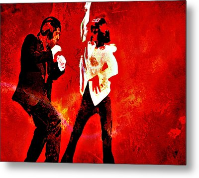 Pulp Fiction Dance 2 Metal Print