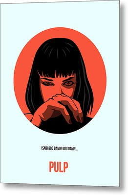 Pulp Fiction Poster 4 Metal Print by Naxart Studio