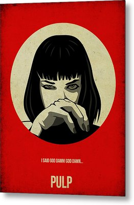 Pulp Fiction Poster Metal Print by Naxart Studio