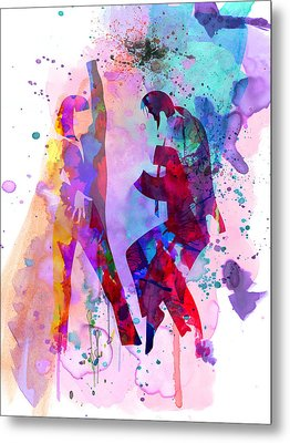 Pulp Watercolor Metal Print by Naxart Studio