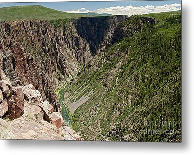 Pulpit Rock Overlook Black Canyon Of The Gunnison Metal Print