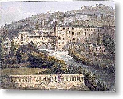 Pulteney Bridge, From Bath Illustrated Metal Print