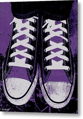 Pumped Up Purple Metal Print by Ed Smith