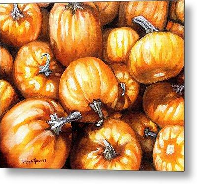 Pumpkin Palooza Metal Print by Shana Rowe Jackson