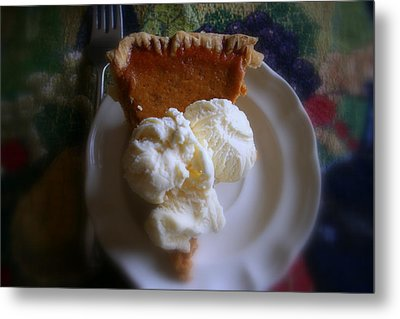 Pumpkin Pie A' La Mode Metal Print