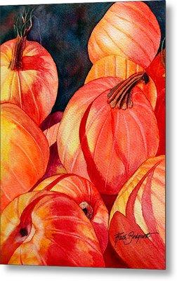 Pumpkin Pile Metal Print by Ruth Bodycott