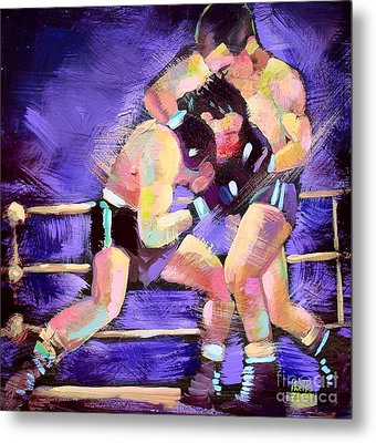Metal Print featuring the painting Punch Out by Robert Phelps