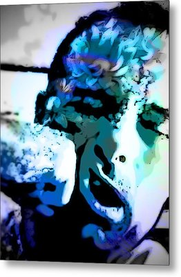 Punch To The Face Metal Print by Mj  Stone