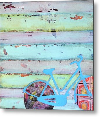 Punctured Bicycle Metal Print by Danny Phillips