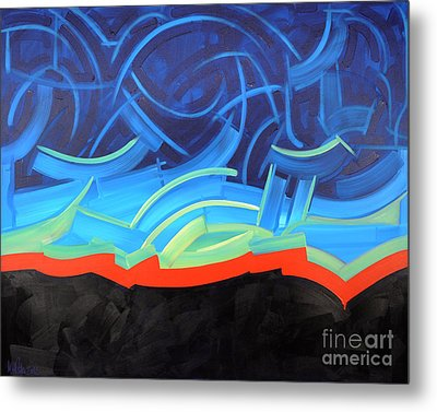 Puncturing Daybreak Metal Print by Michael Ciccotello