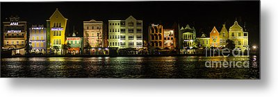 Punda At Night Panoramic Metal Print