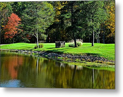 Punderson Golf Course Metal Print by Frozen in Time Fine Art Photography