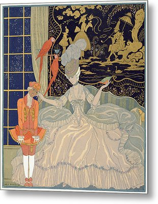 Punishing The Page  Metal Print by Georges Barbier