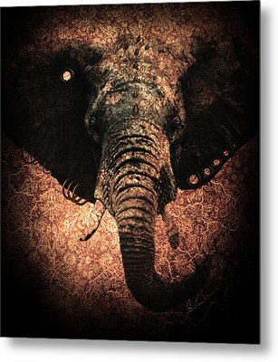 Punkphant Metal Print by Elena Mussi