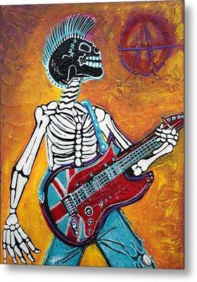 Punks Not Dead Metal Print by Laura Barbosa