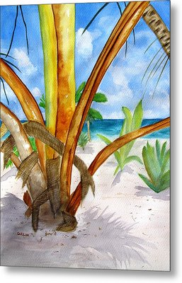 Punta Cana Beach Palm Metal Print