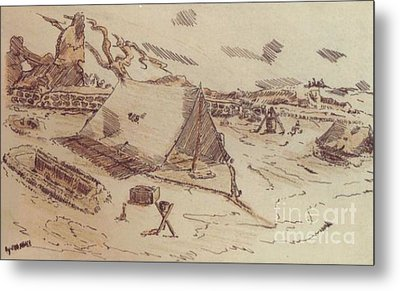 Pup Tents 167th General Hospital Cherbourg France Ww II Metal Print by David Neace