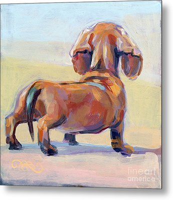 Puppy Butt Metal Print by Kimberly Santini