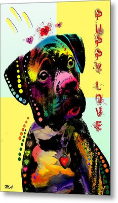 Puppy Love Metal Print by Mark Ashkenazi