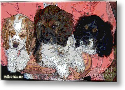 Puppy Love  Sugar         Little Bear And Peanut Metal Print by Debbie Portwood
